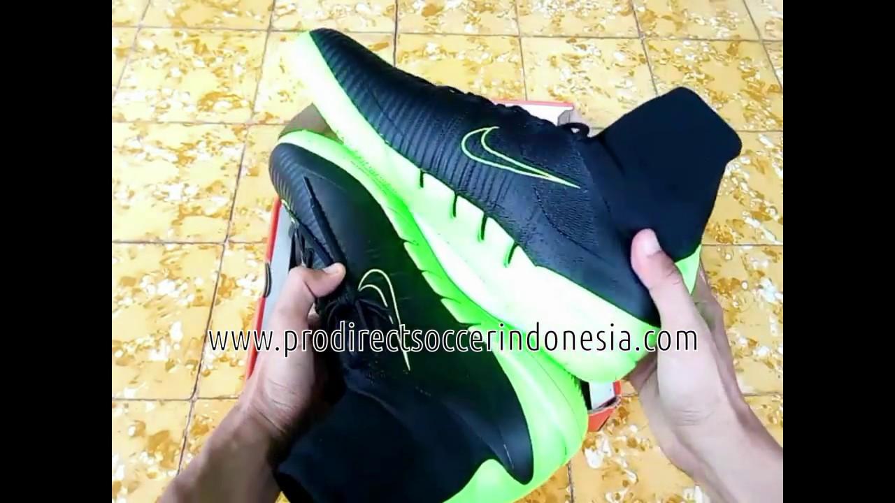 the best attitude 4ac00 85e05 Sepatu Futsal Nike Mercurialx Proximo II IC Black Electric Green 831976 034  original