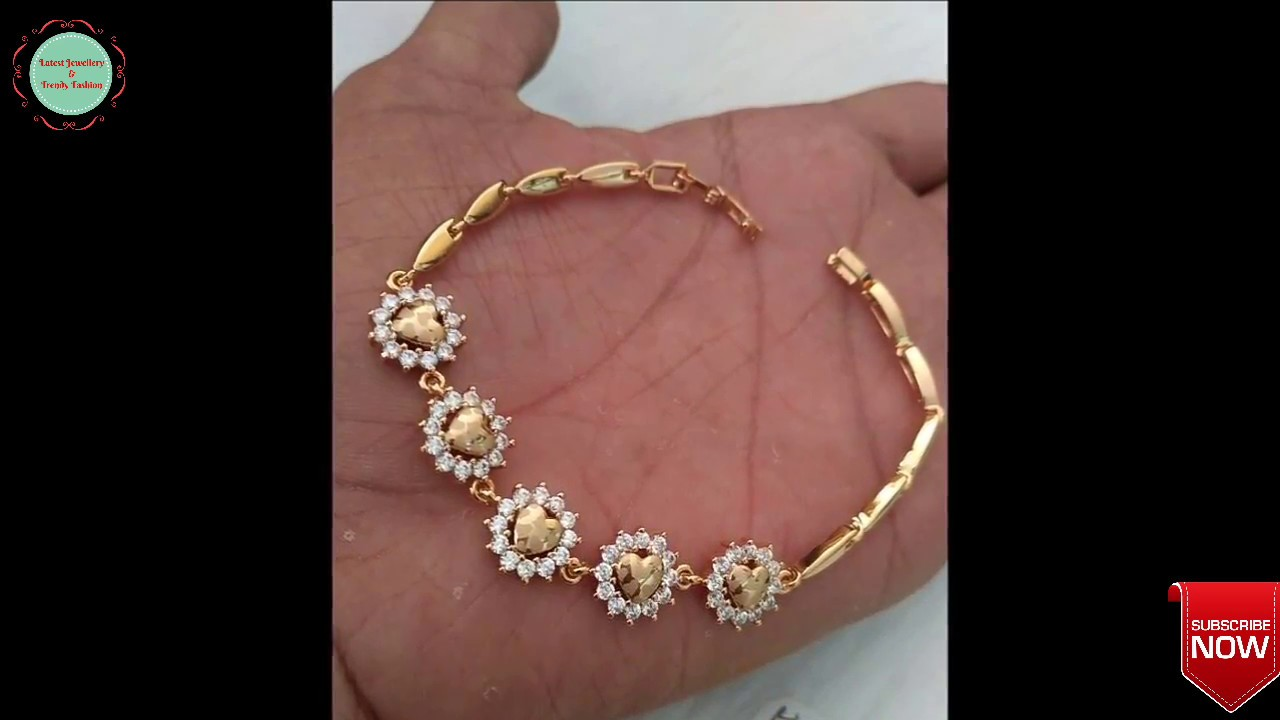 Latest Beautiful Gold Bracelet Designs For Women - YouTube