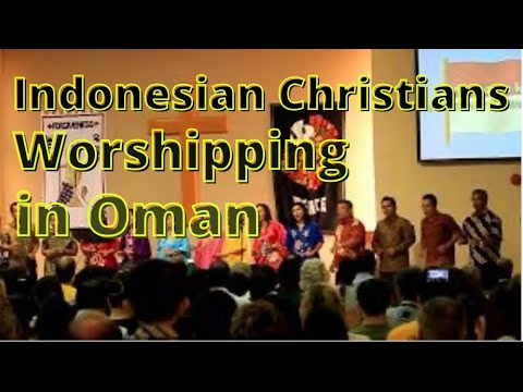 Indonesian Christians Singing at PCO (Protestant Church in Oman), April 2012
