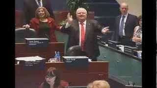 Repeat youtube video Rob Ford dances to 'ONE LOVE' Bob Marley cover