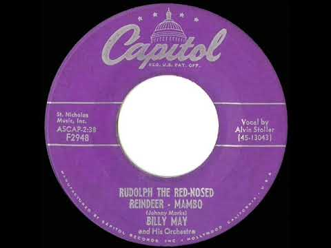 1954 Billy May - Rudolph The Red-Nosed Reindeer Mambo (Alvin Stoller, vocal)