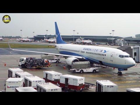 Xiamen Air Boeing 737-800 Business Class Singapore Changi to Hangzhou [AirClips full flight series]