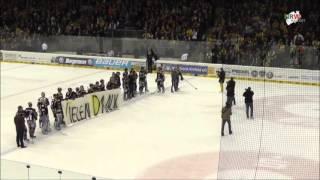Eishockey: Letzte Minute im 3. Halbfinalspiel der Krefeld Pinguine - Eisbären Berlin
