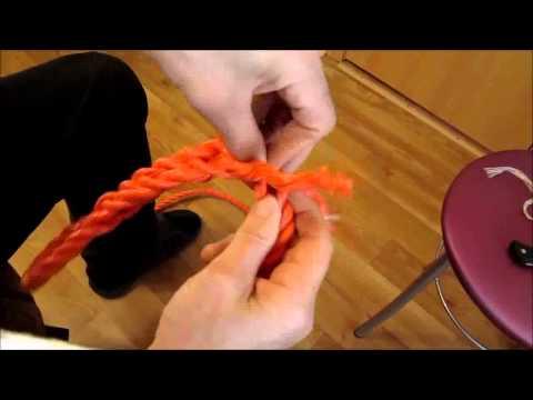 Как изготовить петлю на трехпрядном тросе