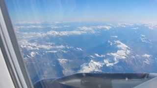 Flying form London to Milan over the italian alps in August