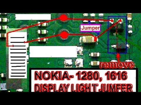 Nokia 1616, 1280,Display light Solution 1000% working and tested