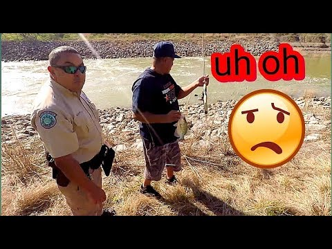 GAME WARDEN showed up while crappie fishing the dam!!!