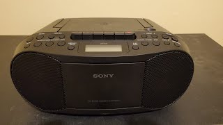 Sony CFD-S70 CD Radio Cassette Recorder Boombox Review