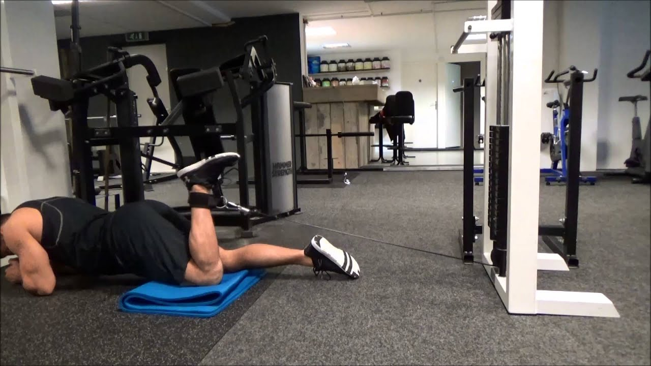 lying cable leg curl unilateral youtube
