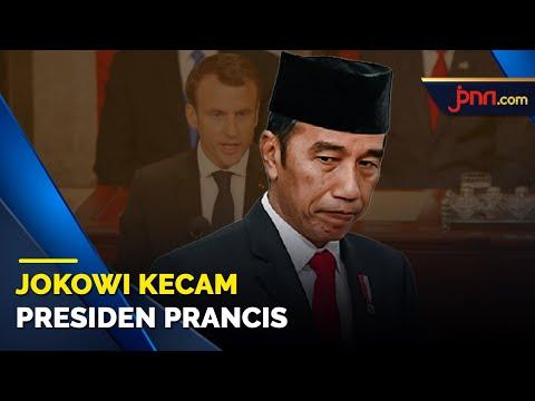 Presiden Joko Widodo Mengecam Presiden Prancis Emmanuel Macron