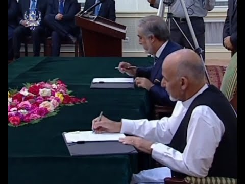 abdullah abdullah and ashraf ghani امضای توافقنامه حکومت وحدت ملی
