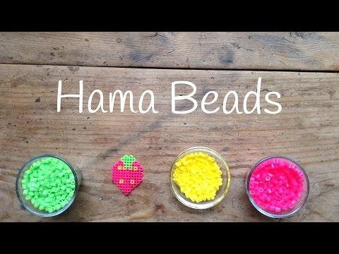Plantillas hama beads: una fresa para comérsela