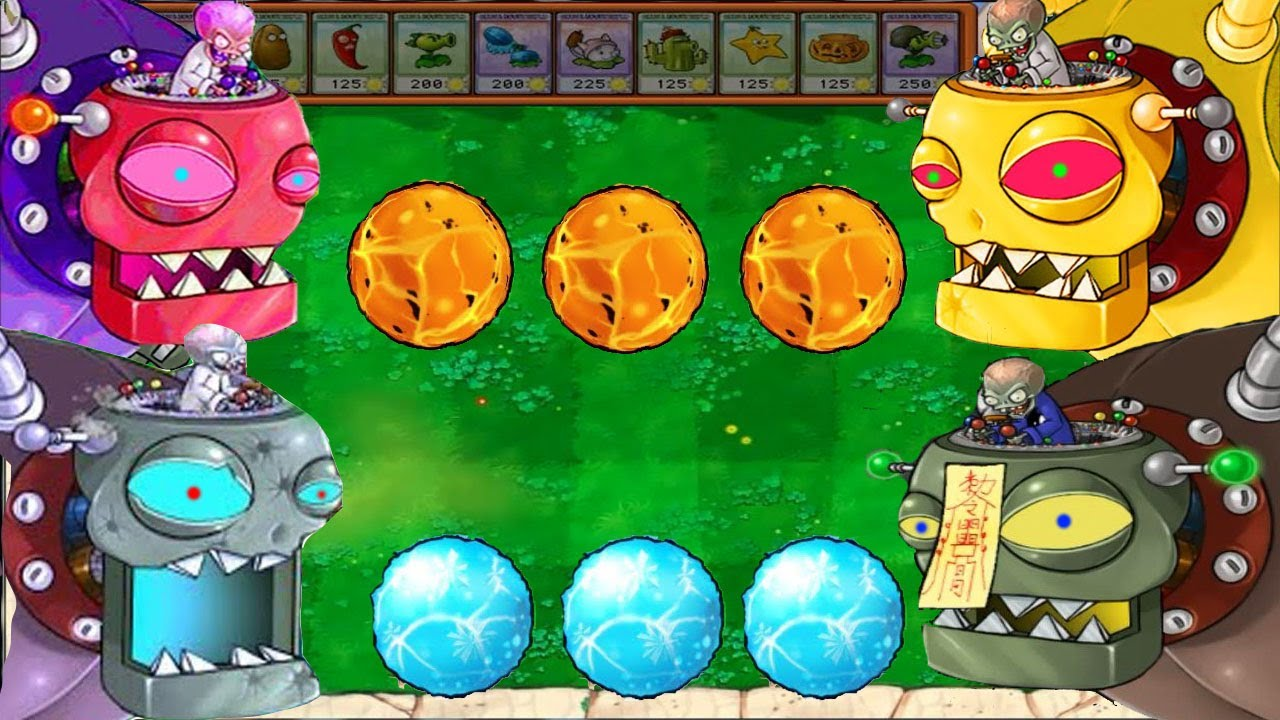 Peashooter FIRE vs Snow Pea ICE vs Tangle Kelp, Zombie | Plants vs Zombies