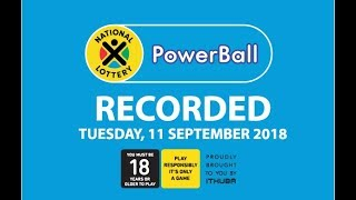 Powerball Results - 11 September 2018​