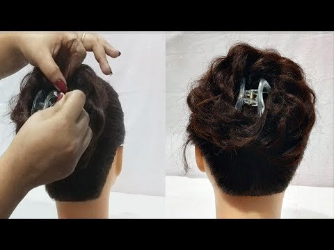 beautiful juda hairstyle using clutcher || Everyday Hairstyles For Long hair || New hairstyle thumbnail