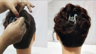 beautiful juda hairstyle using clutcher || Everyday Hairstyles For Long hair || New hairstyle