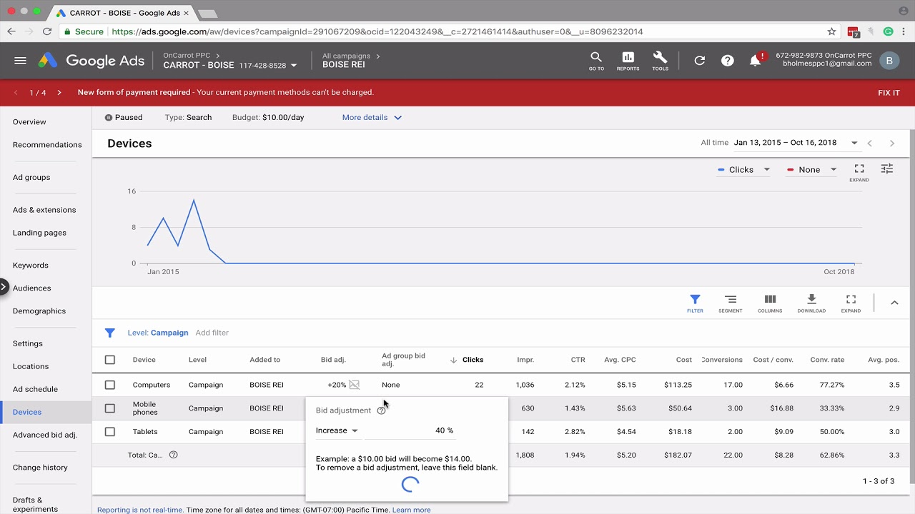 How to Adjust Device Bids in AdWords
