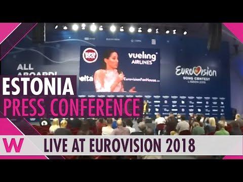 "Estonia Second Press Conference: Elina Nechayeva, ""La Forza"" @ Eurovision 2018 | wiwibloggs"