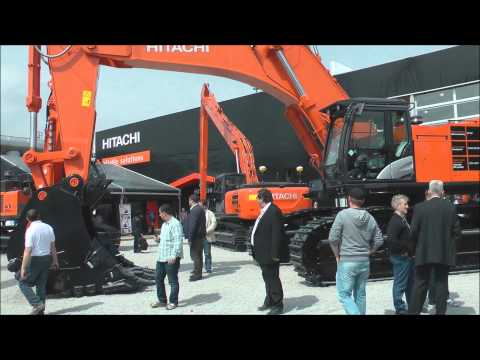 Hitachi Zaxis 870 excavator on display @ Bauma 2013
