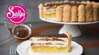 Tiramisu-Torte mit selbst gebackenen Löffelbiskuits