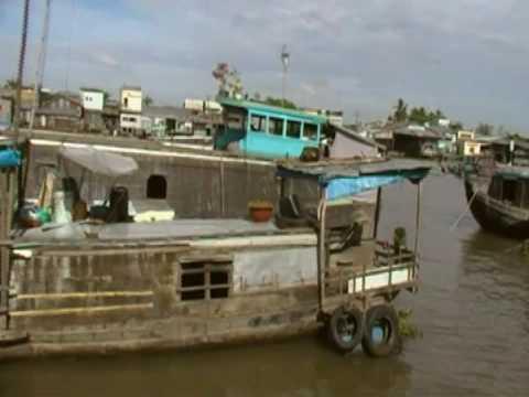 MEKONG, Floating marrket,  VIetnam 2009.avi