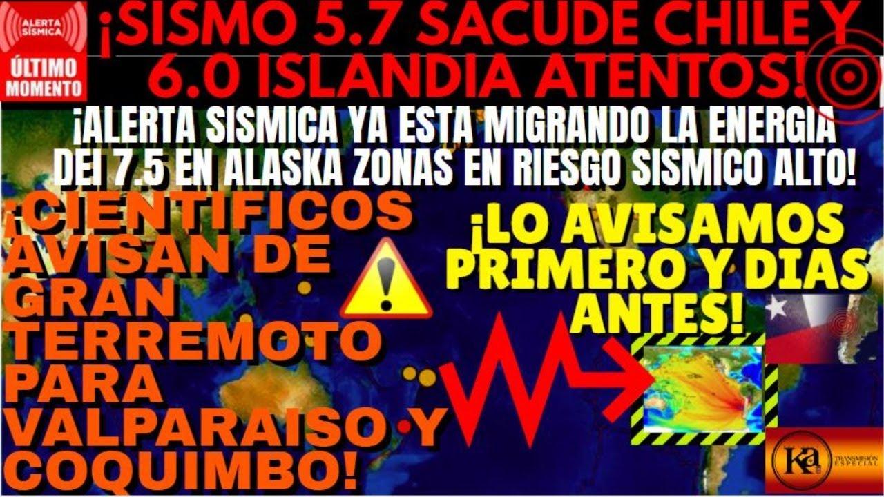 ¡TIEMBLA FUERTE CHILE E ISLANDIA¿CUAL SERA EL SIGUIENTE SISMO?!¡EXPERTOS ADVIERTEN DE MEGATERREMOTO!