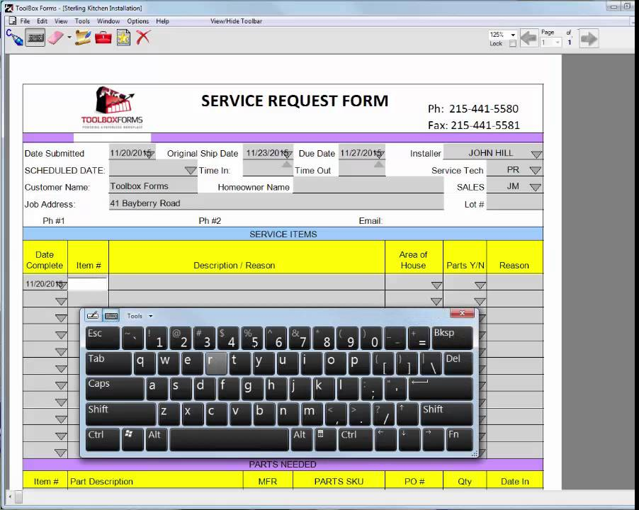 Service Request Form - Youtube