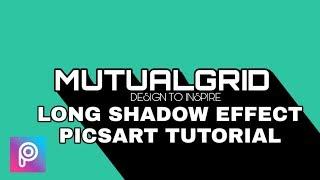 Create LONG SHADOW Text Effect in Picsart - Picsart Tutorial