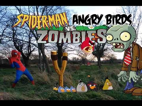 Real Life Spiderman And Angry Birds Vs Zombies