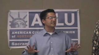 Abdi Soltani, Exec Dir ACLU of Northern California, speaks at Sacramento County Chapter (3 of 3)