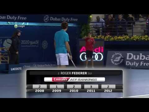 ATP500Dubai 2013 Semi-Final Tomas Berdych vs Roger Federer.