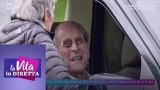 Il Principe Filippo Provoca Un Incidente D'auto Ma Non Si Scusa - La Vita In Diretta 21/01/2019