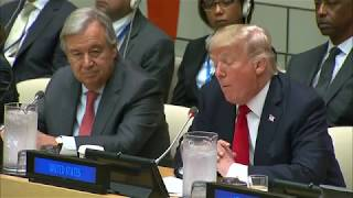 Donald Trump criticizes United Nations in first appearance as President in meeting to reform body