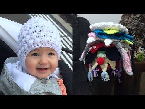 Вязаные детские шапочки крючком схемы
