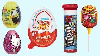Surprise Eggs SpongeBob Kinder Joy Chupa Chups Lollipops Hello Kitty M&M