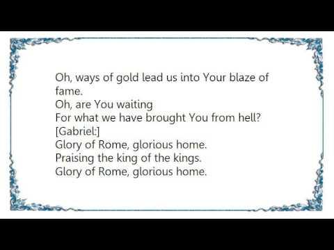 Avantasia - The Glory of Rome Lyrics