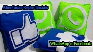 Almofadas Redes Sociais: Facebook e Whatsapp