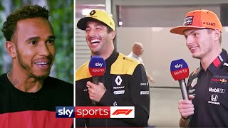 Verstappen & Ricciardo's hilarious interview & Lewis Hamilton in the jungle🤣🌱 | At Home With Sky F1