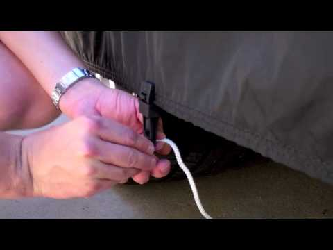 New Gust Guard Car Cover Clamp /& Cord Tie Down System Secure Your Car Cover 2
