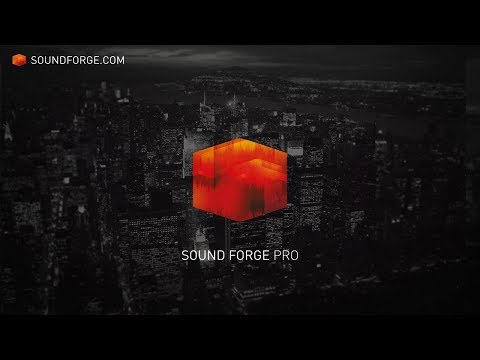 SOUND FORGE Pro 12: State of the art mastering, sound design and editing