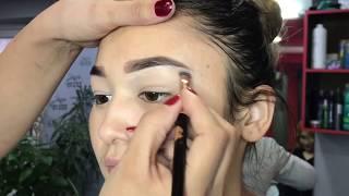 Кашты жасоо жана макияж «петелька» (калем техника)