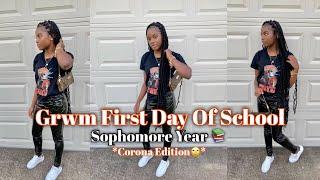 GRWM First Day Of School 2020 (Sophomore Year)🧡    myya