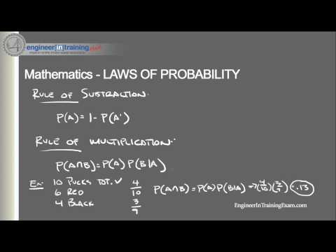 Laws of Probability -- Fundamentals of Engineering FE EIT Exam Review