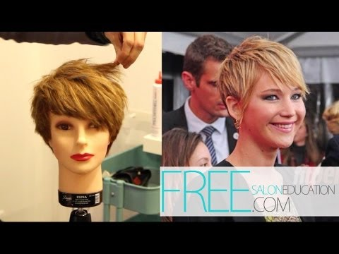 HOW TO CUT THE JENNIFER LAWRENCE PIXIE HAIRCUT