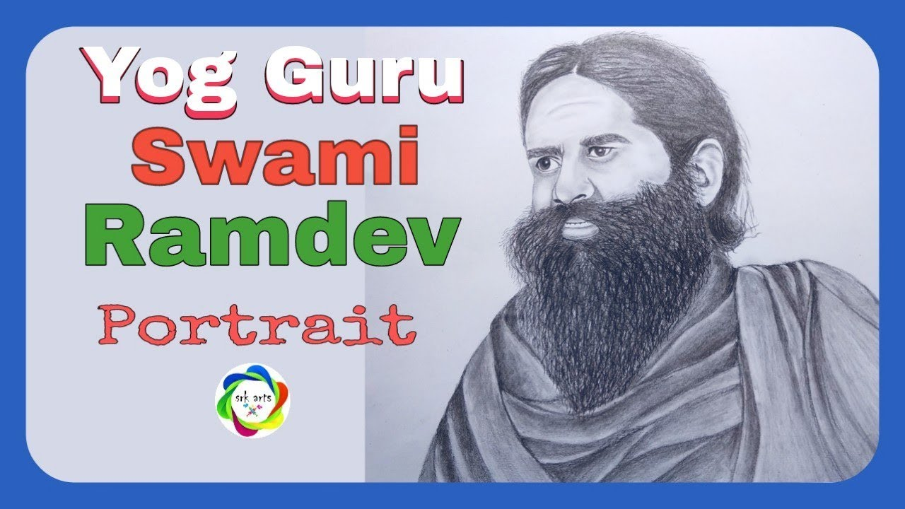 How To Draw Yog Guru Swami Ramdev Step By Step Swami Ramdev Drawing