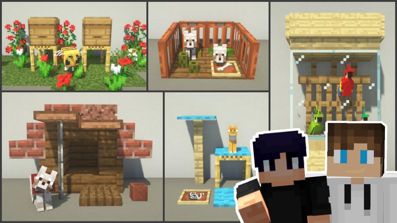 Minecraft: 10+ Pet House Designs (ft. AverageTunaSandwich)