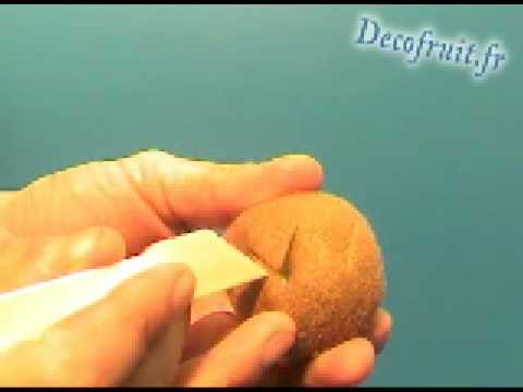 Kiwi d coup youtube for Decoupe fruit decoration