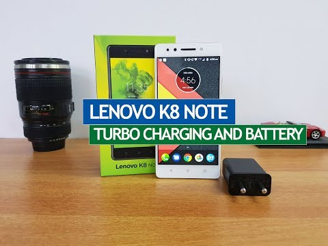 Lenovo K8 Note Turbo Charging and Battery Performance
