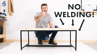 Diy Metal-based Coffee Table W/ No Welding!! | Modern Builds