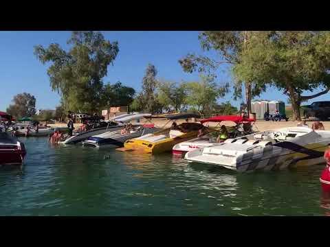2018 Lake Havasu Desert storm London bridge drive-through party!
